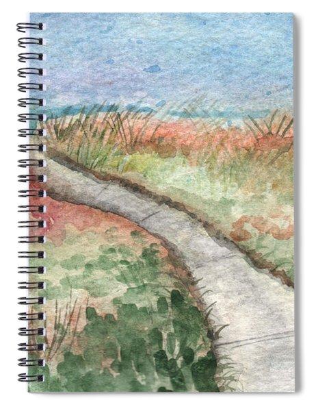 Beach Path Spiral Notebook