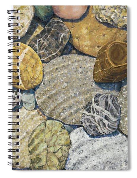 Beach Rocks Of The Puget Sound  Spiral Notebook