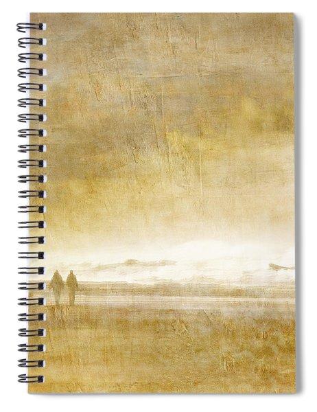 Beach Walk Square Spiral Notebook