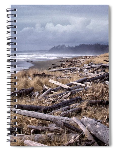 Beached Driftlogs Spiral Notebook