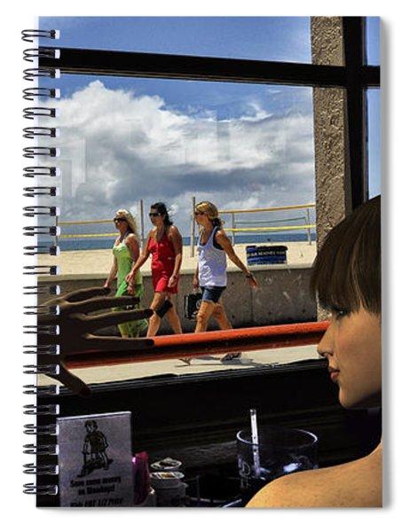 Beach_window Spiral Notebook