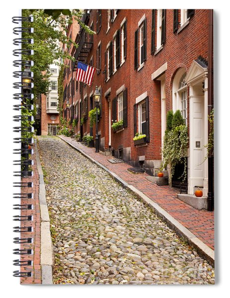 Spiral Notebook featuring the photograph Beacon Hill by Brian Jannsen