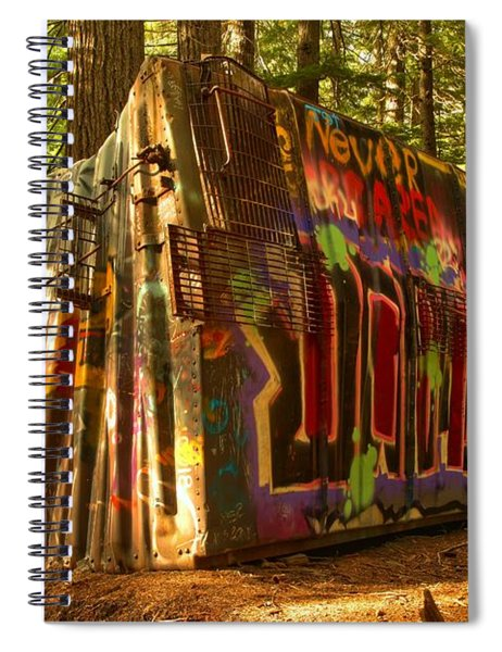 Beams Of The On The Whistler Train Wreck Spiral Notebook