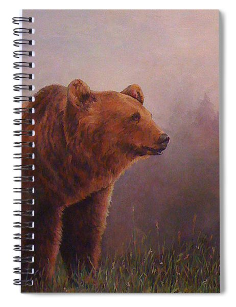 Bear In The Mist Spiral Notebook