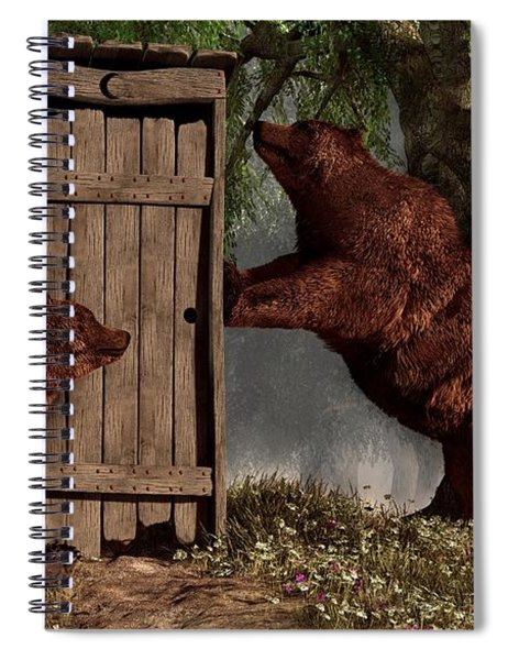 Bears Around The Outhouse Spiral Notebook