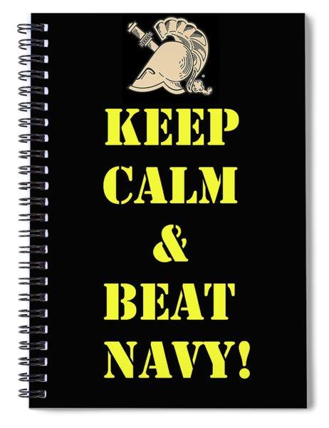 Beat Navy Spiral Notebook
