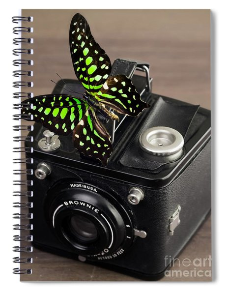 Beautiful Butterfly On A Kodak Brownie Camera Spiral Notebook