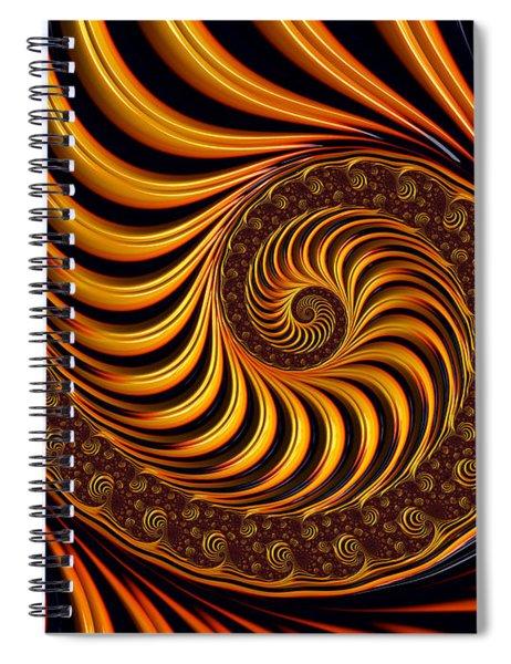 Beautiful Golden Fractal Spiral Artwork  Spiral Notebook