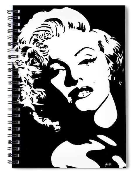 Beautiful Marilyn Monroe Original Acrylic Painting Spiral Notebook
