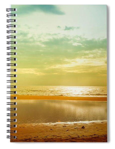 Beautiful Sunset At The Hikkaduwa Beach Spiral Notebook