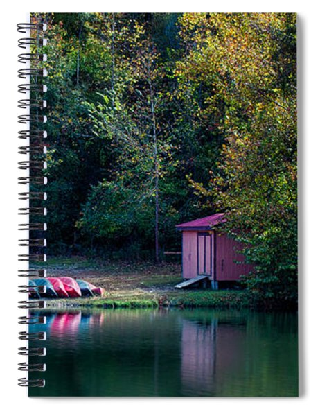 Spiral Notebook featuring the photograph Beavers Bend Reflection by Robert Bellomy