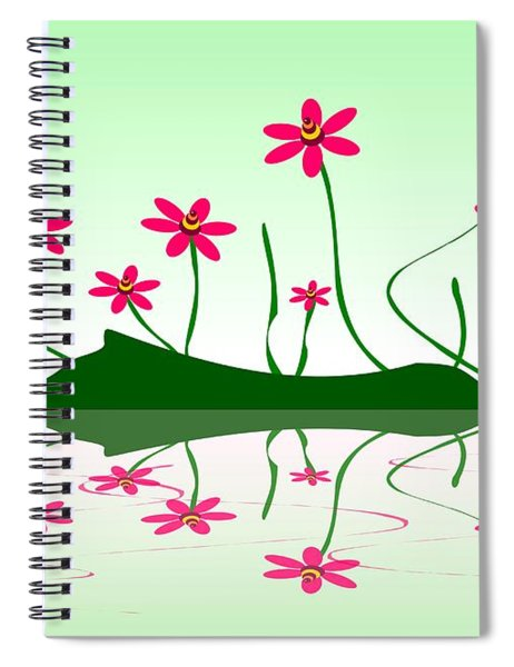 Bee Flowers Spiral Notebook