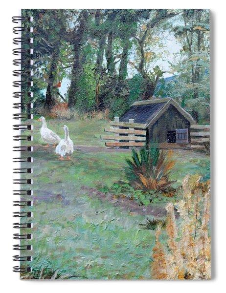Beeley, Derbyshire, 2009 Oil On Canvas Spiral Notebook