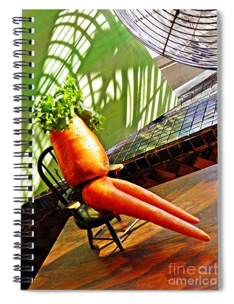 Beer Belly Carrot On A Hot Day Spiral Notebook