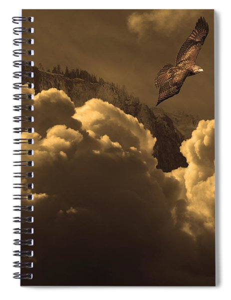 Before Memory . I Have Soared With The Hawk Spiral Notebook