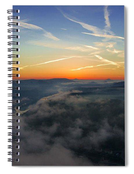 Before Sunrise On The Lilienstein Spiral Notebook