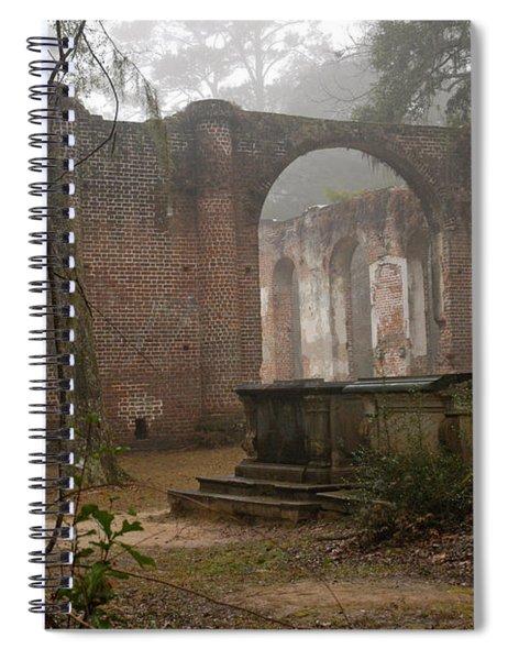 Behind Old Sheldon Church Spiral Notebook