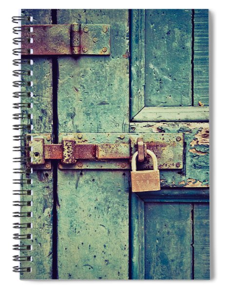 Behind The Blue Door Spiral Notebook