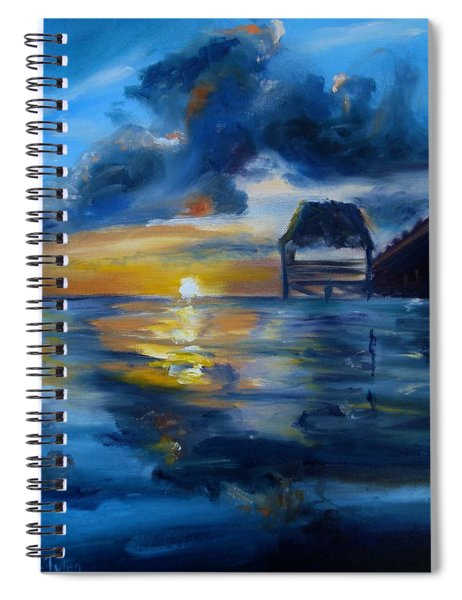 Belizean Sunrise Spiral Notebook