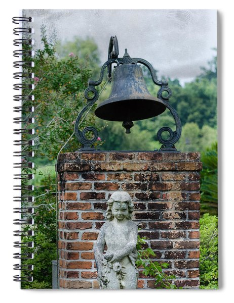 Bell Brick And Statue Spiral Notebook