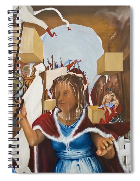 Bellona Goddess Of War Sister Of Mars Spiral Notebook