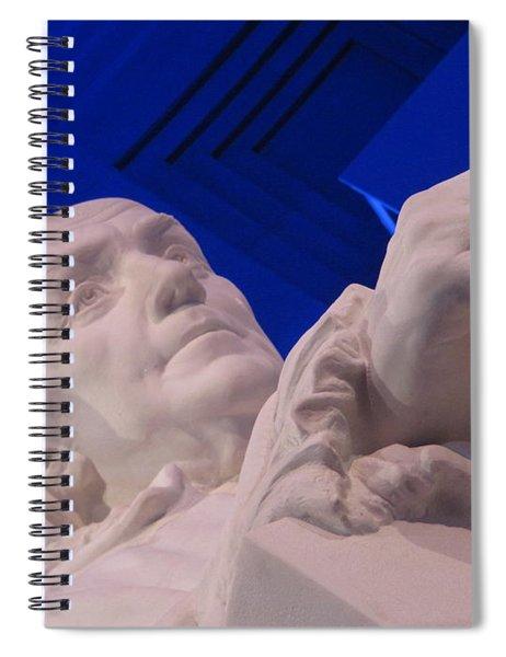 Ben Franklin In Blue I Spiral Notebook