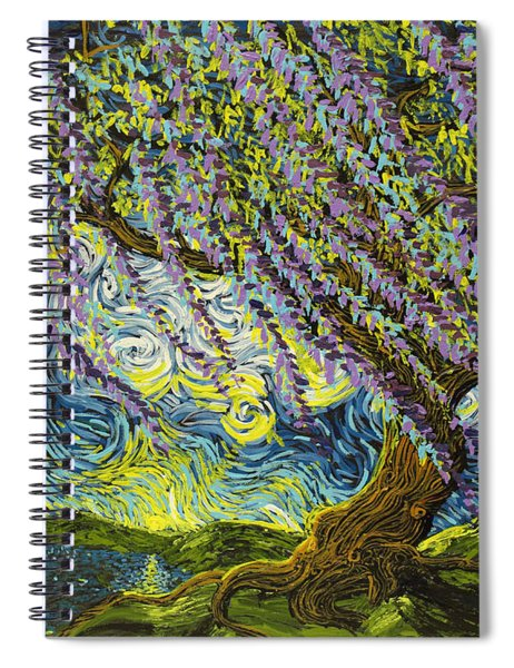 Beneath The Willow Spiral Notebook