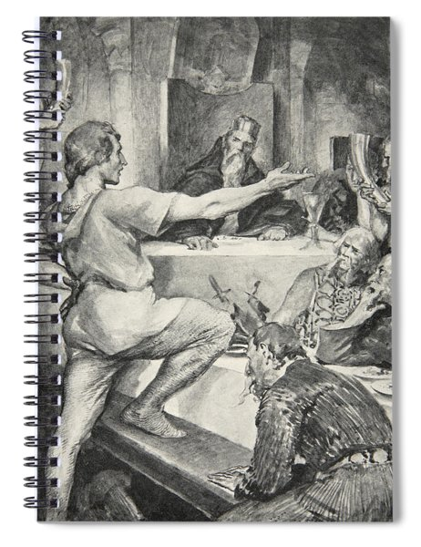 Beowulf Replies Haughtily To Hunferth Spiral Notebook