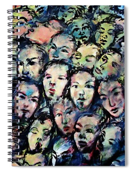 Berlin Wall Graffiti  Spiral Notebook