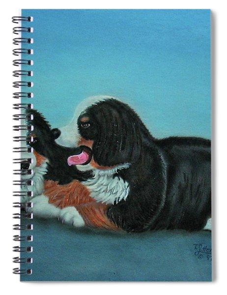 Bernese Mountain Puppies Spiral Notebook