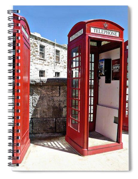 Bermuda Phone Boxes 2 Spiral Notebook