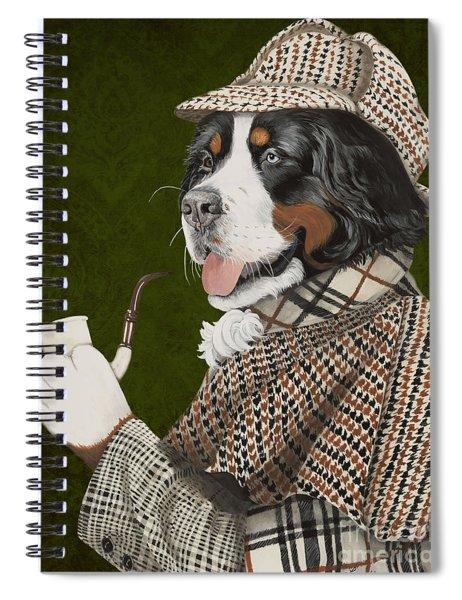 Berner Of The Baskerville Spiral Notebook