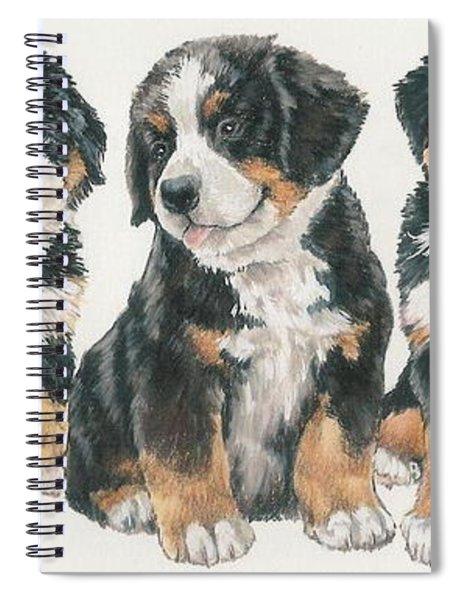 Bernese Mountain Dog Puppies Spiral Notebook