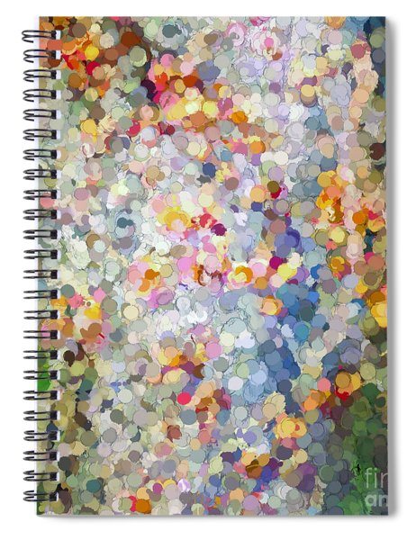 Berries Around The Tree - Abstract Art Spiral Notebook