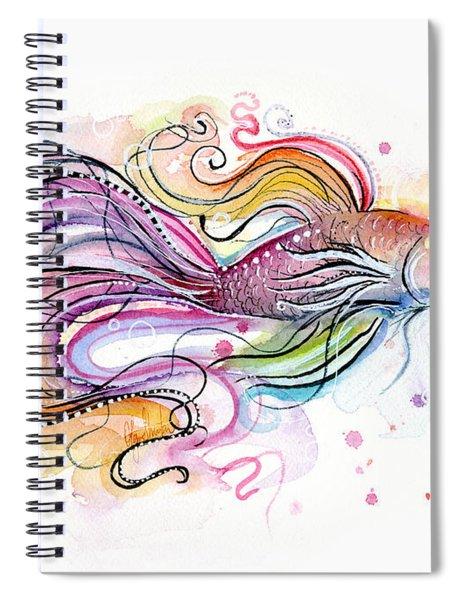 Betta Fish Watercolor Spiral Notebook