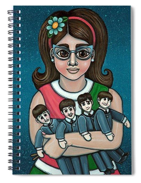 Betty Jeans Beatles Spiral Notebook