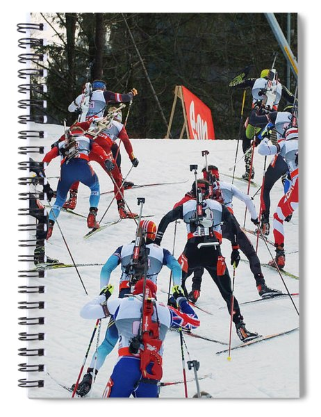 Biathlon Worldcup Start Phase Spiral Notebook