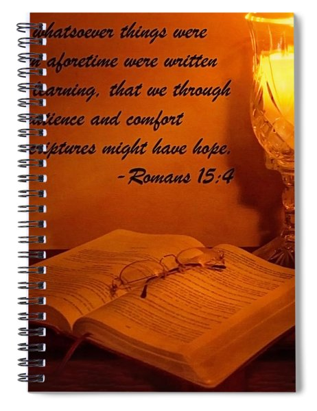Bible By Candlelight Spiral Notebook
