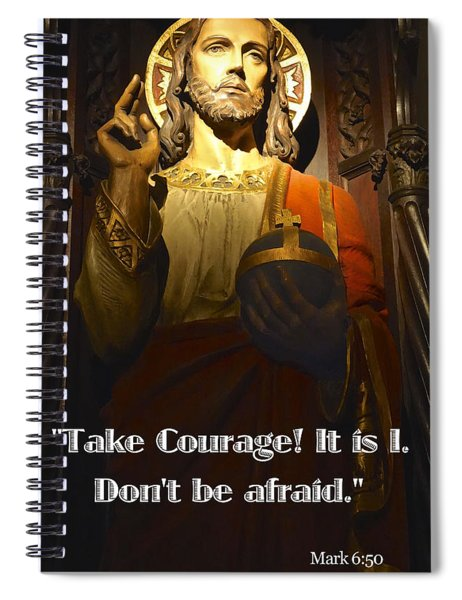 Bible Quote  Mark 6  50 Spiral Notebook
