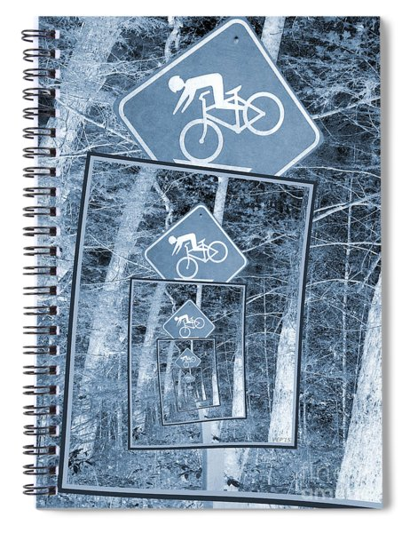Bicycle Caution Traffic Sign Spiral Notebook