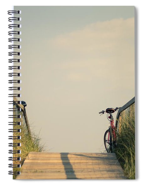 Bicycle On Beach Boardwalk Spiral Notebook