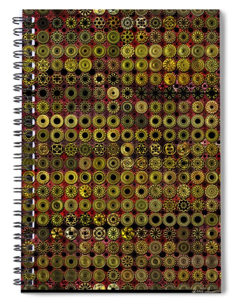 Biding Time In The Gold Flocked Basement Twixt Death And Funeral Spiral Notebook