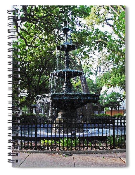 Bienville Fountain Mobile Alabama Spiral Notebook