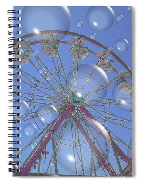 Big B Bubble Ferris Wheel Spiral Notebook