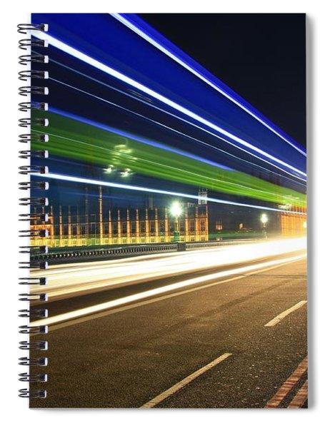 Big Ben And A Bus Spiral Notebook