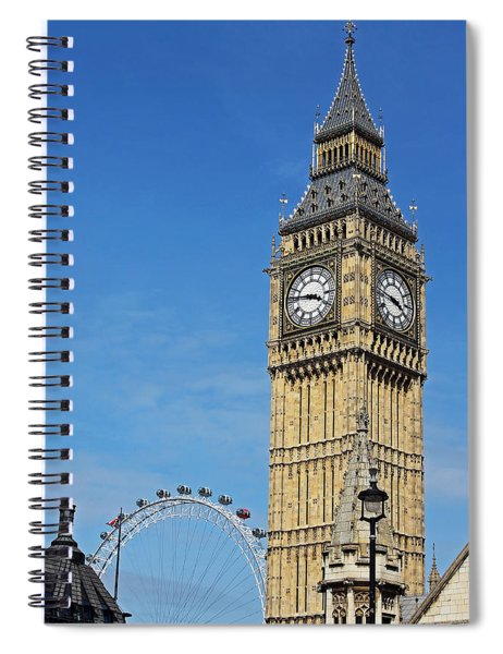 Big Ben And London Eye Spiral Notebook