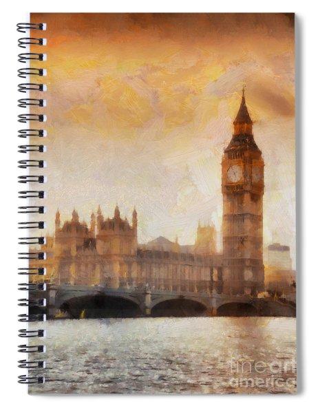 Big Ben At Dusk Spiral Notebook