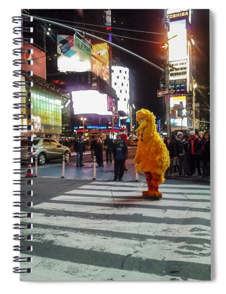 Big Bird On Times Square Spiral Notebook