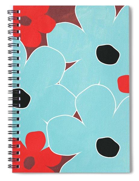 Big Blue Flowers Spiral Notebook