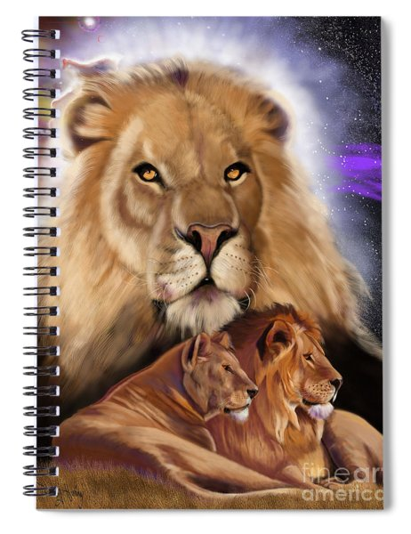 Third In The Big Cat Series - Lion Spiral Notebook